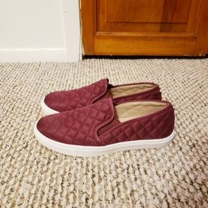 Steve Madden Burgundy Slip on Sneaker